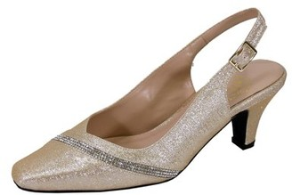 Floral Women's Candice Extra Wide Width Pointed Toe With Crystal Strip Upper Slingback