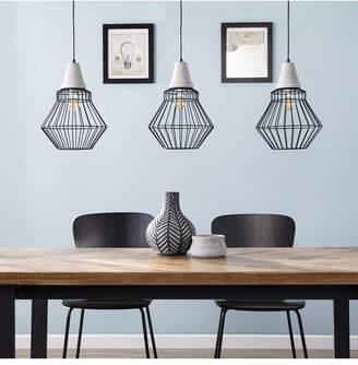 Southern Enterprises Passine Cage Pendant Lamp 3 Piece Set