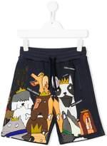 Dolce & Gabbana dog print shorts