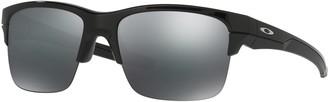 Oakley Square Silver Flash-Lens Sunglasses