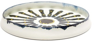 L'OBJET L'Objet Lobjet - Boheme Porcelain Platter - White Multi