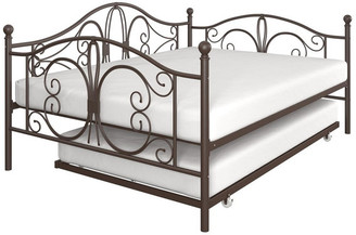 DHP EveryRoom Brandford Full Full Metal Daybed and Twin Trundle