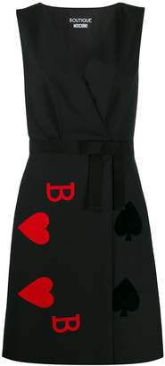Moschino cards game motif short dress