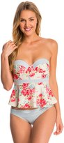 Betsey Johnson Swimwear Urban Rose Bump Me Up Underwire Tankini Top 8146562