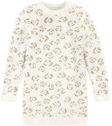 Petit Lem White Animal-Print Sweater Dress - Toddler & Girls