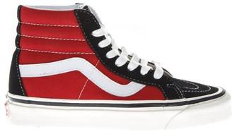 Vans Sk8-hi Black & Red High Leather & Canvas Sneakers
