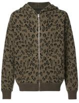 Alexander Wang Leopard Zip-Up Hoodie
