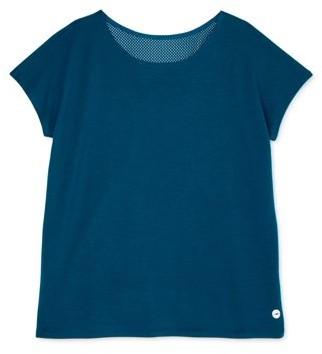 Avia Studio Girls Mesh Overlay Performance T-Shirt, Sizes 4-18