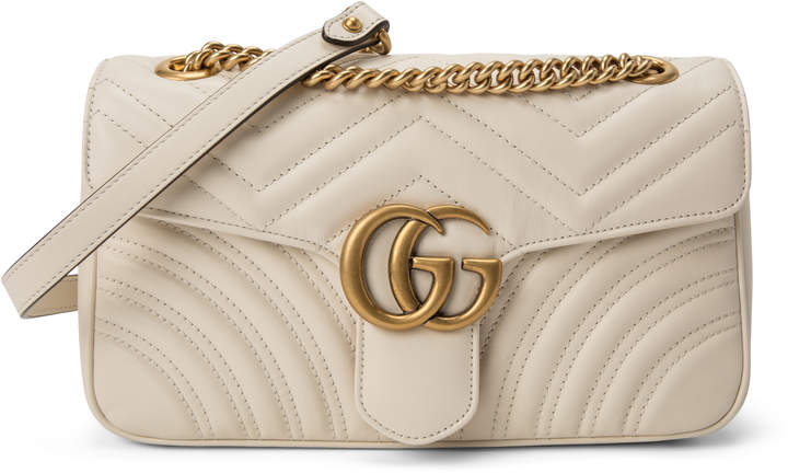 Gucci Marmont Shoulder Matelasse GG Small Off White