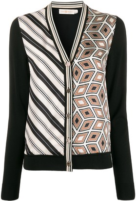Tory Burch print detail cardigan