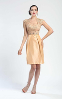 Sue Wong Embellished Queen Anne Cocktail Dress N4209