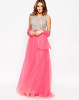 Forever Unique Kaitlyn Maxi Prom Dress with Embellished Bodice