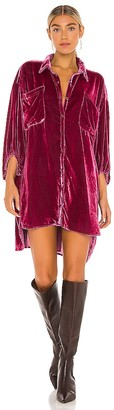 Free People Lux Velvet Shirt Dress