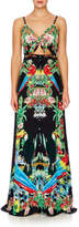 Camilla Toucan Play Tie Front Cut Out Maxi Dress