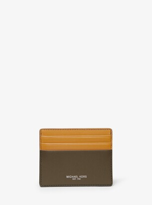 Michael Kors Odin Tall Leather Card Case