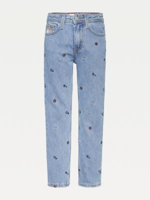 Tommy Hilfiger Flag Star Embroidery Straight Fit Jeans