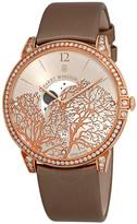Harry Winston Midnight Champagne Sunray Dial 18kt Rose Gold Diamond Satin Unisex Watch