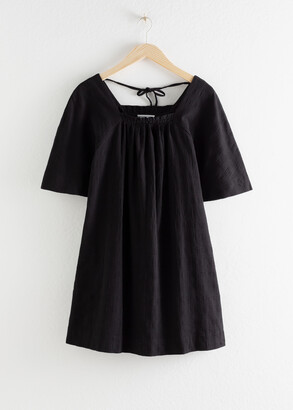 And other stories Gathered Check Mini Dress