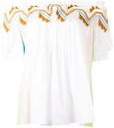Peter Pilotto guipare lace time bardot top - women - Cotton/Polyamide/Polyester/Spandex/Elastane - 8