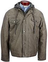 Roundtree & Yorke Faux-Leather Hooded Jacket