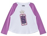 Juicy Couture White and Purple Raglan Selfie Tee
