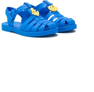Gucci Kids GG Anchor jelly sandals