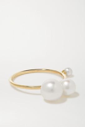 Sarah & Sebastian Buoy 10-karat Gold Pearl Ring