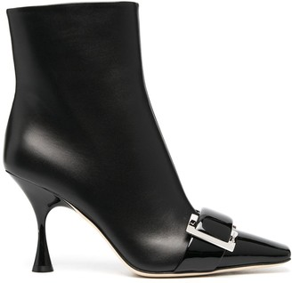 Sergio Rossi Buckle-Detail Ankle Boots