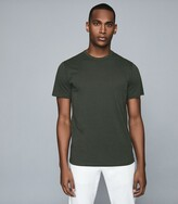Reiss Melrose - Pigment Dyed T-shirt in Army Green