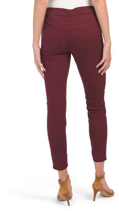 High Waist Colored Utility Crop Jeans
