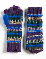 Juicy Couture Luxe Mixed Yarn Pop-Top Mittens