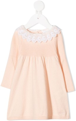 Chloé Kids Lace Collar Long-Sleeved Dress
