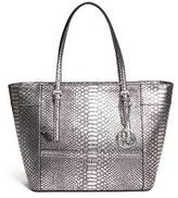 GUESS Delaney Python-Embossed Tote