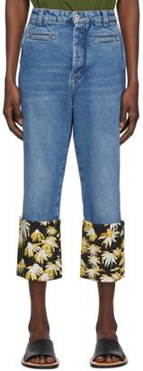 Loewe Blue Daisy Fisherman Jeans