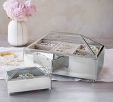 Pottery Barn Conservatory Metal & Glass Jewelry Box