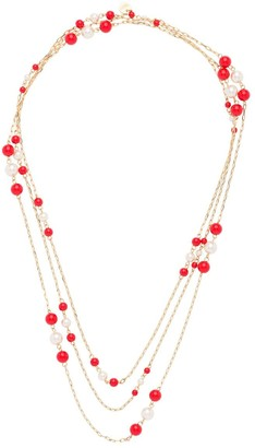 Miu Miu Pearl Chain Necklace