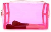 Forever 21 FOREVER 21+ Transparent Neon Makeup Bag
