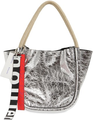 Proenza Schouler Xs Crinkeld Metallic Leather Tote Bag