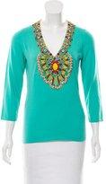 Naeem Khan Embellished Cashmere Sweater