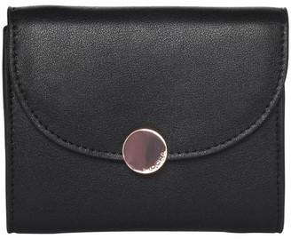 Mocha Brianna Leather Coin Wallet Black