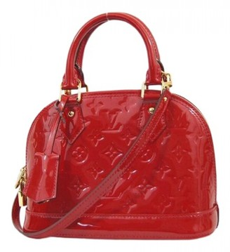 Louis Vuitton Alma BB Red Patent leather Handbags