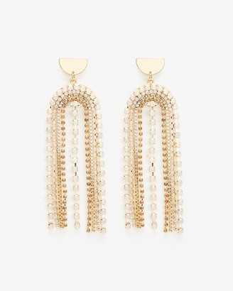 Express U Rhinestone Drop Earrings
