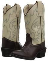 Old West Kids Boots Bone J Toe Cowboy Boots