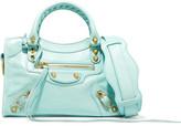 Balenciaga Giant 12 City Mini Textured-leather Shoulder Bag - Turquoise