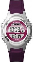 Timex Children's Quartz Watch with LCD Dial Digital Display and Purple Resin Strap TW5M11100