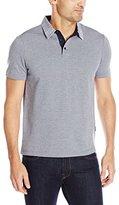 Perry Ellis Men's Solid Cotton-Blend Oxford Collar Polo Shirt