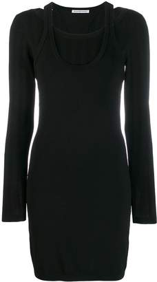 Alexander Wang bi-layer mini dress