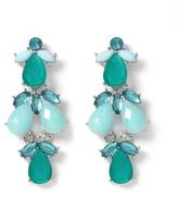 White House Silvertone Sea Glass/Lagoon Earring