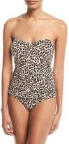 Tommy Bahama Cat Meow V-Wire Bandeau One-Piece Swimsuit