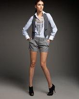 Pinstripe Wool Vest